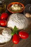 Ingredients for homemade pizza Royalty Free Stock Images