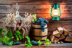 Ingredients for homemade red wine Royalty Free Stock Image