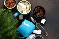 Ingredients for a hot Christmas drink. Winter drink.  royalty free stock images