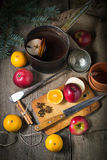 Ingredients for hot mulled wine Stock Images