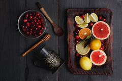 Ingredients for hot punch Royalty Free Stock Images