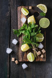 Ingredients for ice green tea Stock Photography