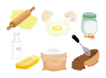 Ingredients Icons Royalty Free Stock Images