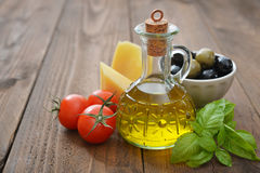 Ingredients of italian cuisine Royalty Free Stock Photography