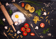 Ingredients for Italian dish Royalty Free Stock Photo
