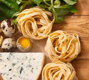 Ingredients for an Italian food recipe Royalty Free Stock Photography