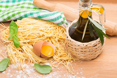Ingredients for italian homemade pasta Stock Photography