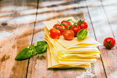 Ingredients for Italian lasagne Stock Photo