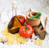 Ingredients for an Italian meal Stock Photos