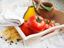 Ingredients for an Italian meal Stock Images