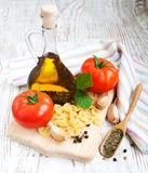 Ingredients for an Italian meal Royalty Free Stock Photo