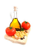 Ingredients for an Italian meal Royalty Free Stock Photos