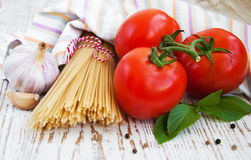 Ingredients for an Italian meal Royalty Free Stock Images