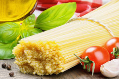 Ingredients for Italian pasta Stock Photography