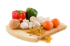 Ingredients for Italian pasta Royalty Free Stock Photography