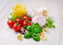 Ingredients for Italian pasta Royalty Free Stock Photo