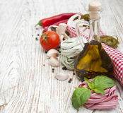 Ingredients for Italian pasta Stock Photos