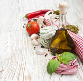 Ingredients for Italian pasta Royalty Free Stock Photos