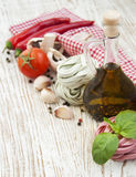Ingredients for Italian pasta Stock Image