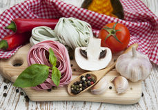 Ingredients for Italian pasta Stock Photo