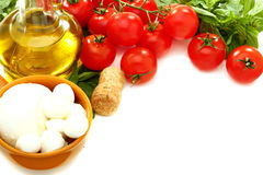 Ingredients for Italian salad. Royalty Free Stock Photography