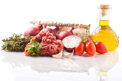 Ingredients for Italian Tomato Sauce Stock Photography