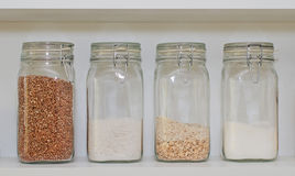 Ingredients in jars Royalty Free Stock Photo