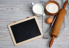 Ingredients and kitchen tools Royalty Free Stock Photography