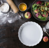 Ingredients for making apple cake Stock Image