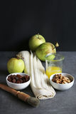 Ingredients for making apple strudel Stock Photo