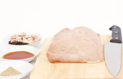Ingredients for making fried pork. Stock Image