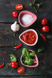 Ingredients for making ketchup Stock Photos