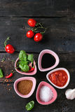 Ingredients for making ketchup Royalty Free Stock Photos