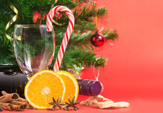 Ingredients for making mulled wine Stock Image