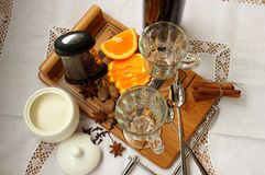 Ingredients for making mulled wine Royalty Free Stock Image