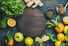 Ingredients for making natural drink Stock Photography