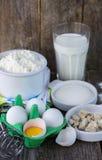Ingredients for making pancakes Royalty Free Stock Photo