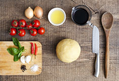 Ingredients for making pasta Royalty Free Stock Photo