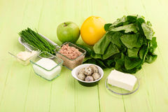 Ingredients for making salad Royalty Free Stock Photography