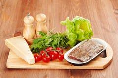 Ingredients for making salad Stock Photos