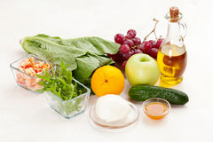 Ingredients for making salad Stock Photo