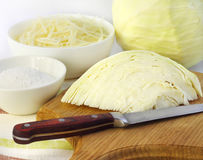 Ingredients for making sauerkraut Stock Photography