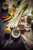 Ingredients for making a tasty marinade Royalty Free Stock Photography
