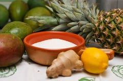 Ingredients for mango jam Stock Image
