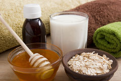 Ingredients for the manufacture of creams Royalty Free Stock Images