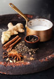 Ingredients for masala tea Royalty Free Stock Photography