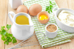 Ingredients for mayonnaise Stock Image