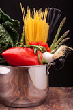 Ingredients Of Mediterranean Diet Stock Photo