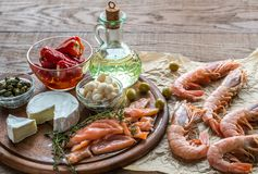 Ingredients for Mediterranean diet Stock Images