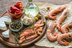 Ingredients for Mediterranean diet Stock Photo